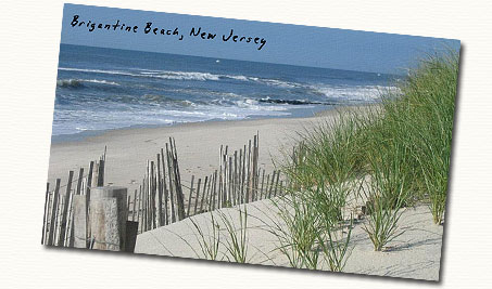 brigantine beach postcard, home inspection brigantine beach new jersey, brigantine beach home inspectors, roy j baake, brigantine beach real estate