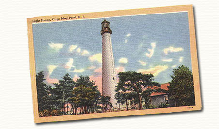cape may lighthouse postcard, home inspection cape may new jersey, cape may home inspectors, roy j baake, cape may real estate