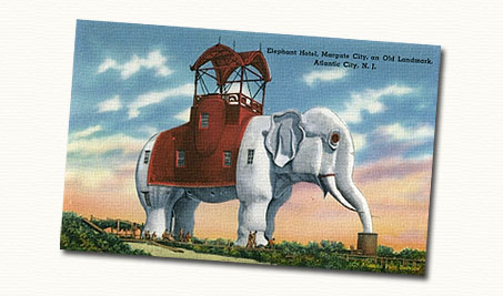 lucy the elephant postcard.