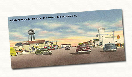 stone harbor postcard, home inspection stone harbor new jersey, stone harbor home inspectors, roy j baake, stone harbor real estate