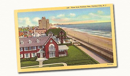 Ventnor City NJ postcard.